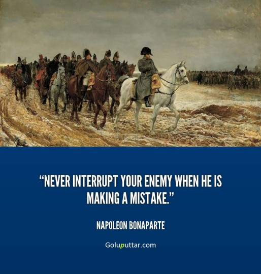 Nice Mistake Quote By Napoleon Bonaparte