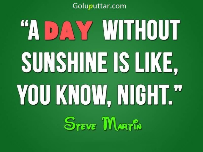 Perfect Funny Quote Day Without Sun