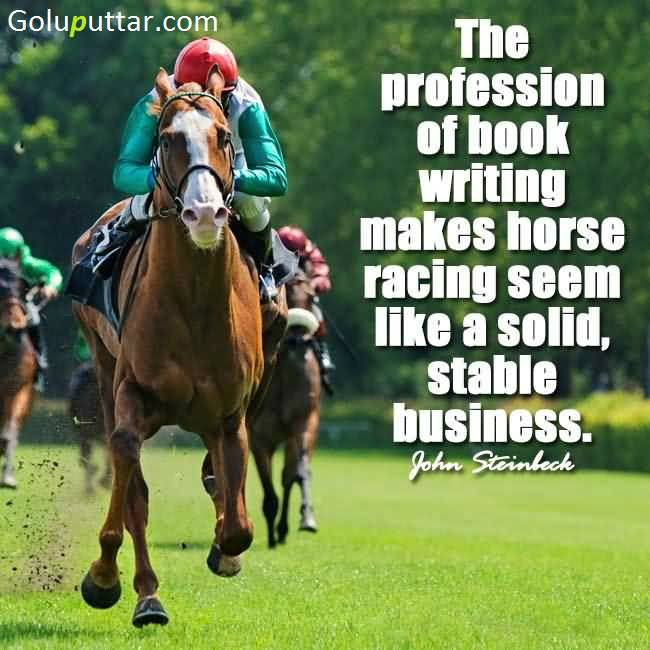 Perfect Horse Quote About Its Business