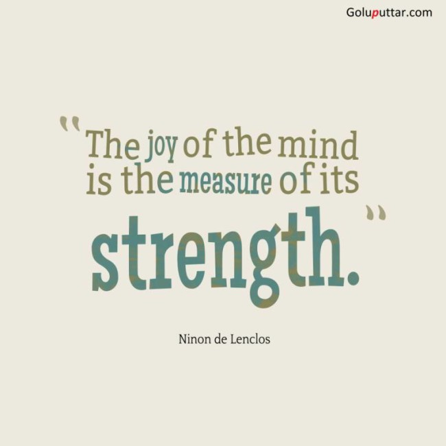 Perfect Joy Quote Joy Of Mind Measures Its Power