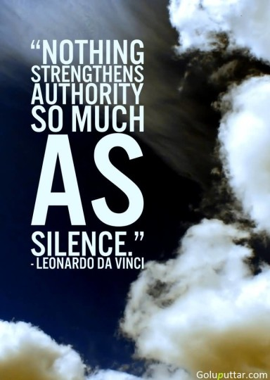 Perfect Silence Quote By Leonardo Da Vinci