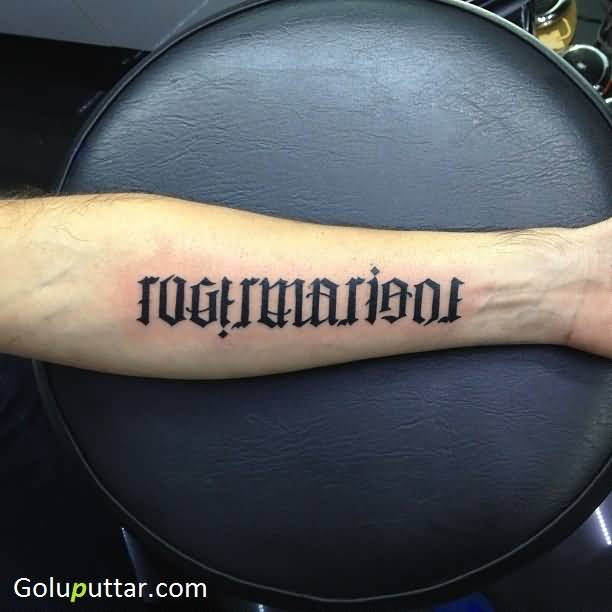 Perfect Sleeve Ambigram Tattoo