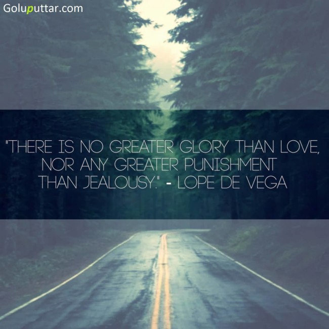 Popular Jealousy Quote About Great Glory Of Love