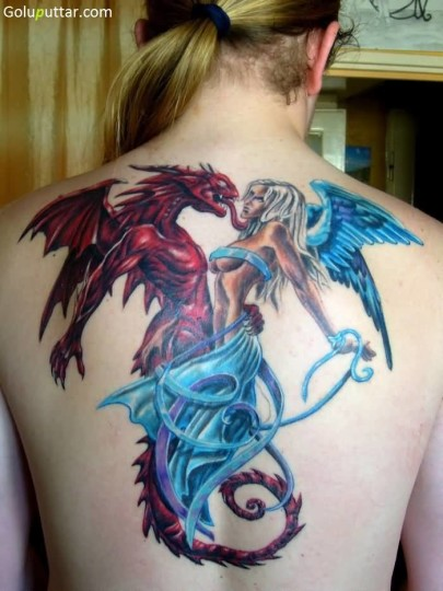 Stunning Devil And Angel Tattoo For Man - Copy
