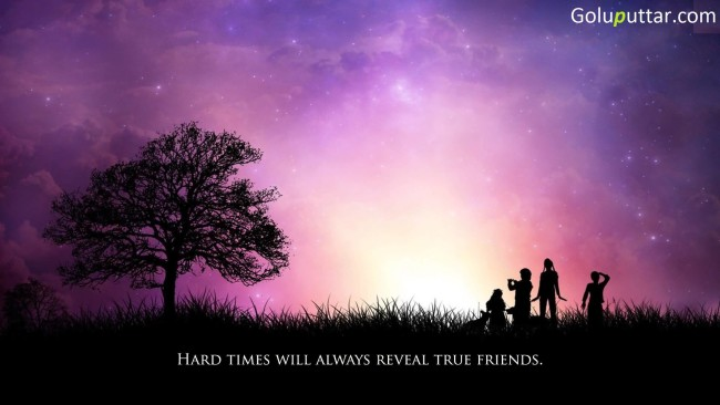 True Friendship Quote True Friend Stand In Hard Time