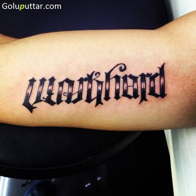 Ambigram sleeve tattoos and photo ideas for Tattoos with words