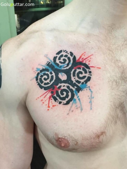 Mind Blowing Dwennimmen Symbol Tattoo