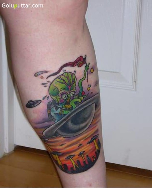 Weird Alien And Ufo Tattoo