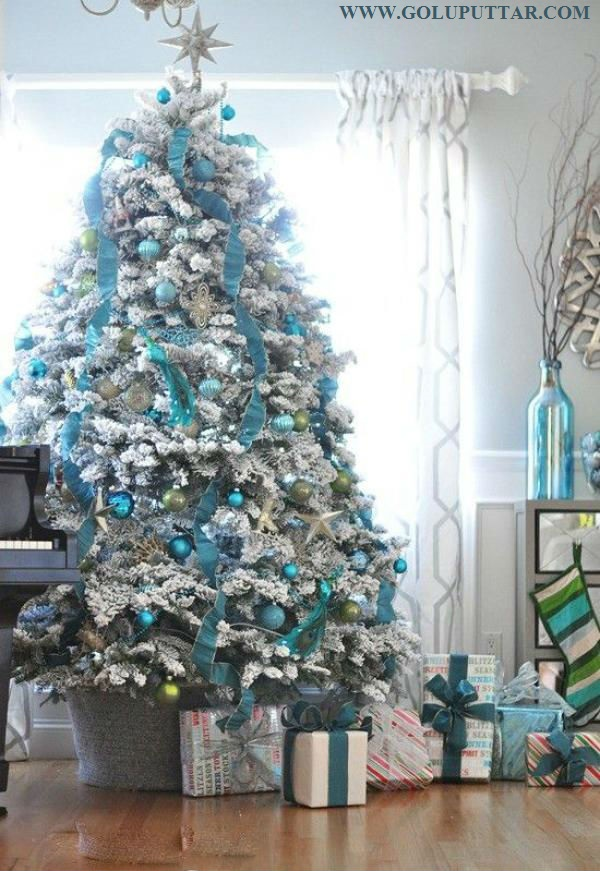 White Blue Themed Christmas Tree For Boys