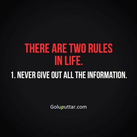 Amazing Witty Quote Two Important Rules Of Life