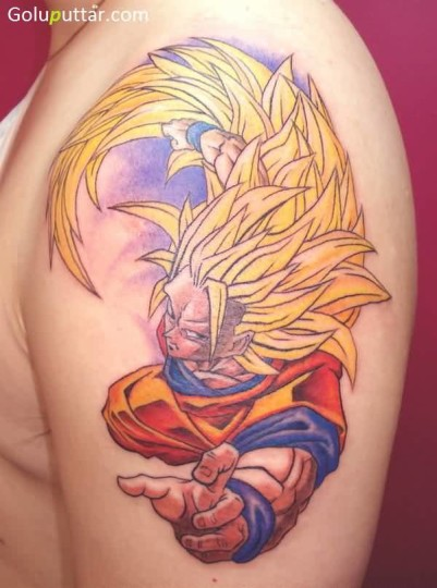 Brilliant Animated Tattoo Of Dragon Ball Z - Copy