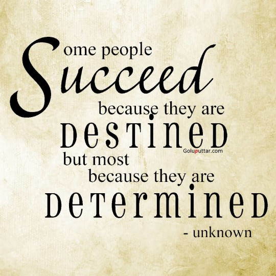 Brilliant Determination Quote Often People Determined