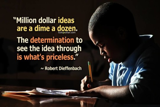 Funny Determination Quote About Priceless Idea