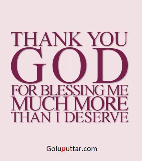 Perfect Thank You Quote Blessings Of God Always With You ...