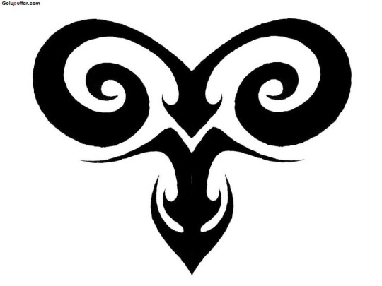 Brilliant Aries Zodiac Tattoo Stencil