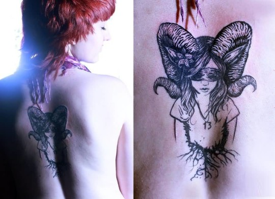 Funky Women Show Aries Tattoo On Lovely Back