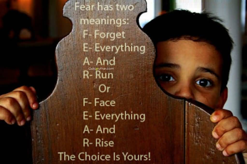 Funny Choice Quote Meaning Of Fears Goluputtar
