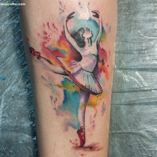 Marvelous Sleeve Tattoo Design Made With Aqua Ink