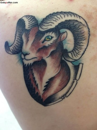 Mind Blowing Animated Aries Tattoo Design For Men
