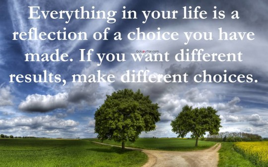 Nice Choice Quote Life Is A Reflection Of Your Choice