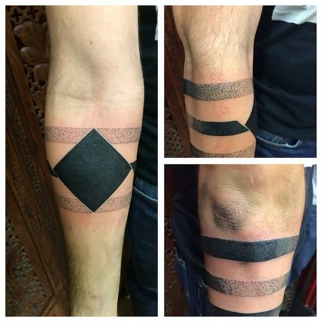 Lower armband tattoos and photo ideas for Solid armband tattoos