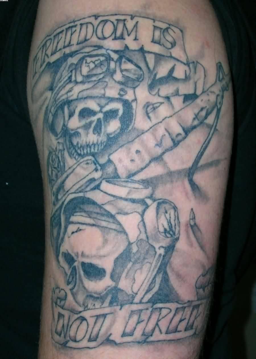 2da20f819 Coolest Army Man And Skull Tattoo With Banner | Goluputtar