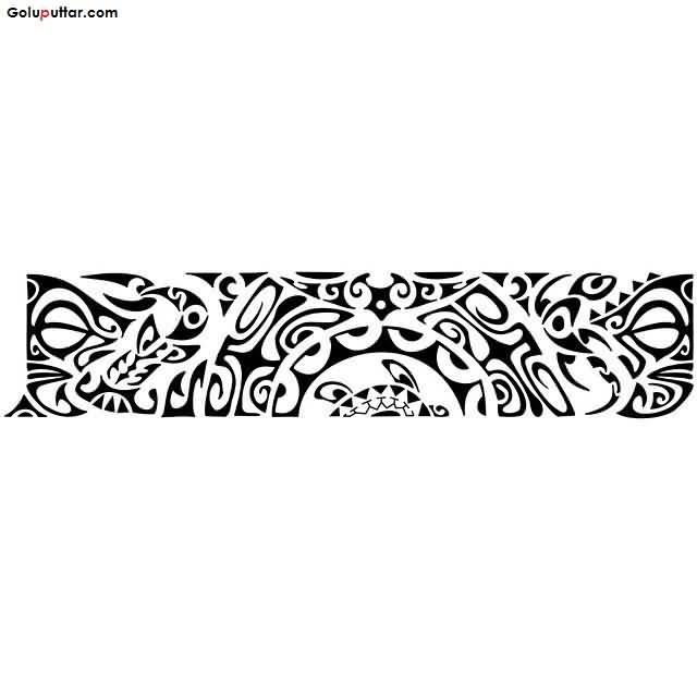 Coolest Tribal Maori Armband Tattoo Stencil Design