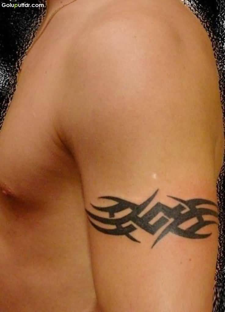 Incredible Tribal Armband Tattoo Made By Expert Artist