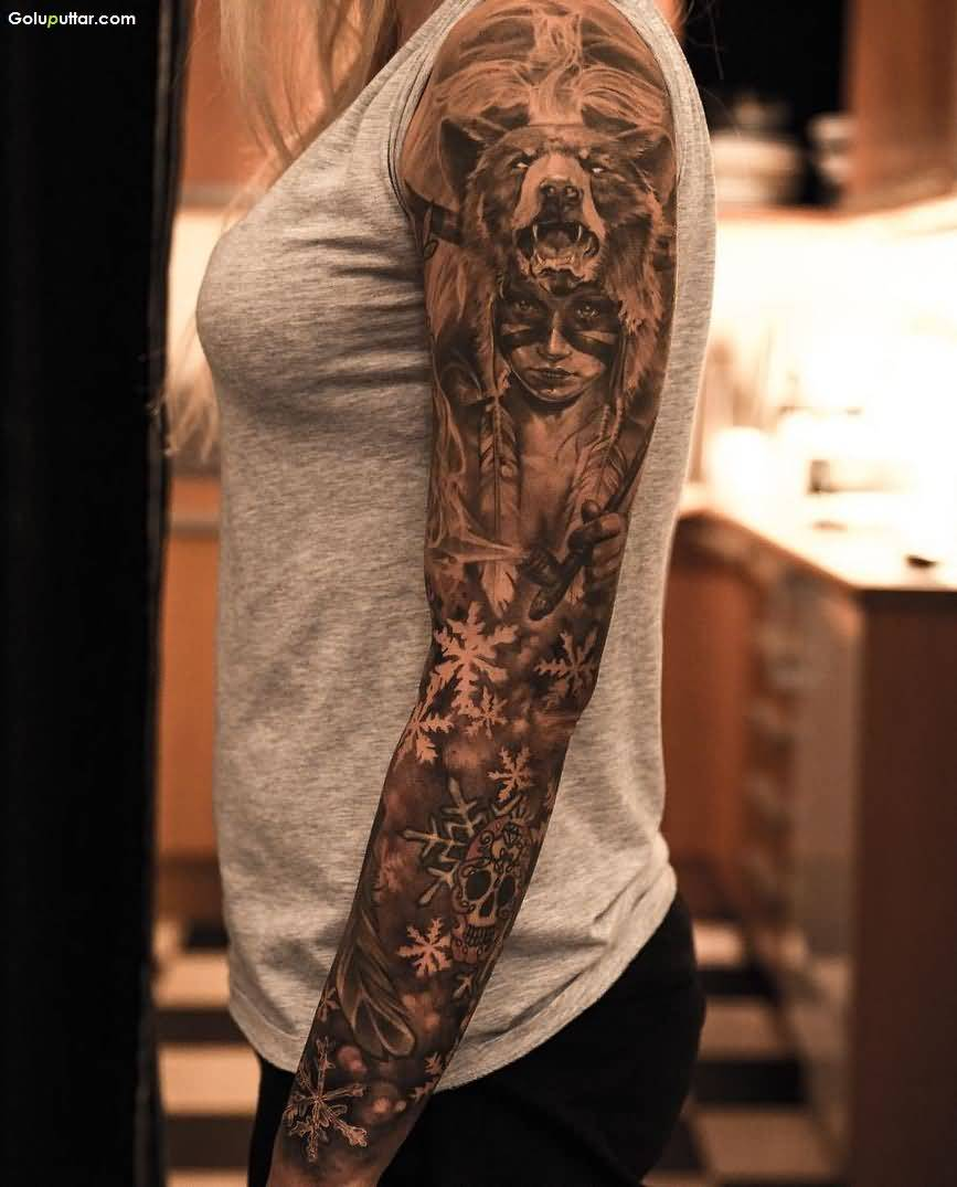 Arm women tattoos for Forearm tattoo sleeves