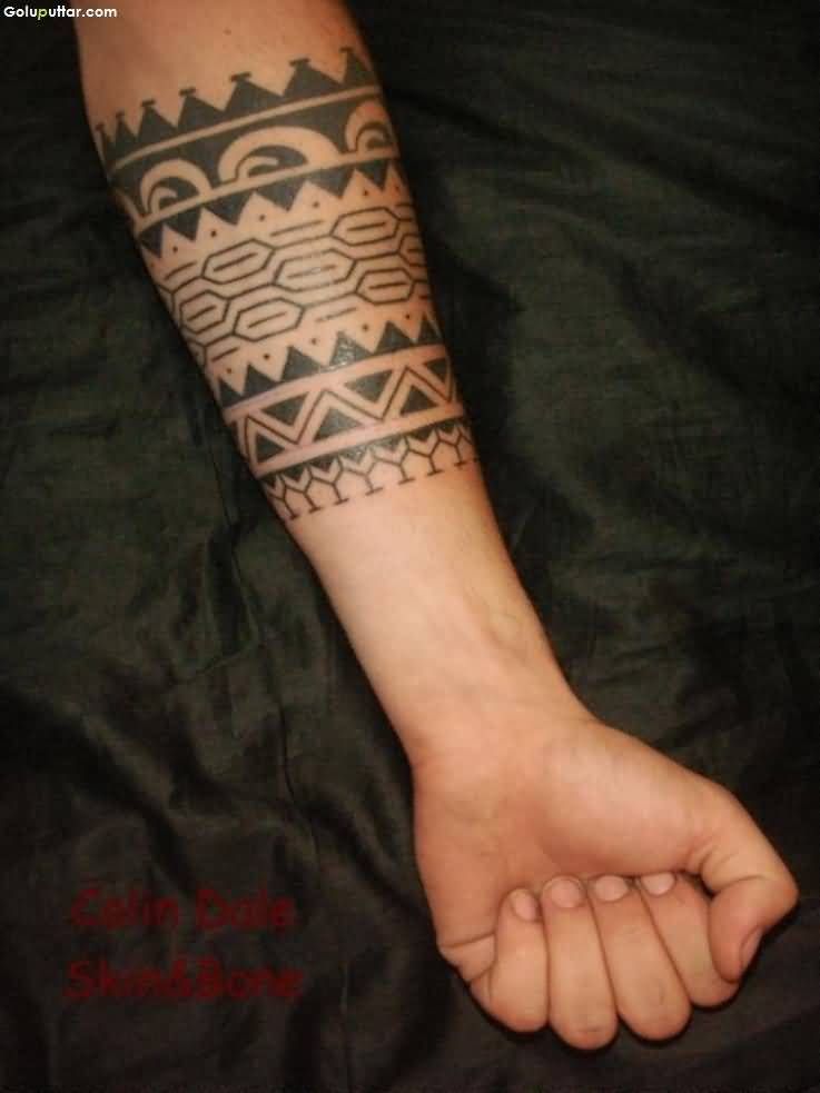 Passionate Maori Armband Tattoo For Cool Men