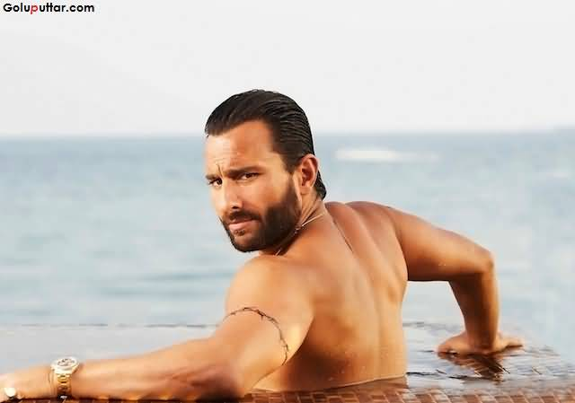Saif Ali Khan Show Awesome Upper Armband Tattoo