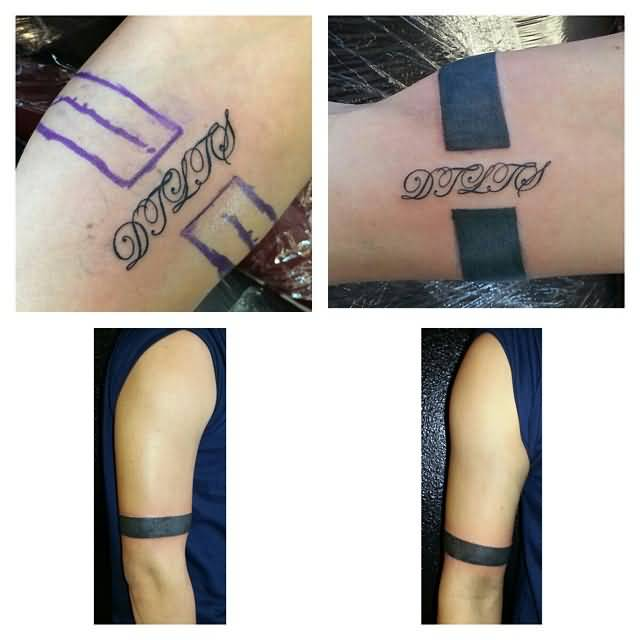 84f2c7680ef0c Sweet Upper Solid Armband Tattoo Design On Right Arm | Goluputtar