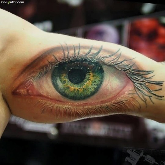 Traditional Best 3D Eye Tattoo On Inside Arm