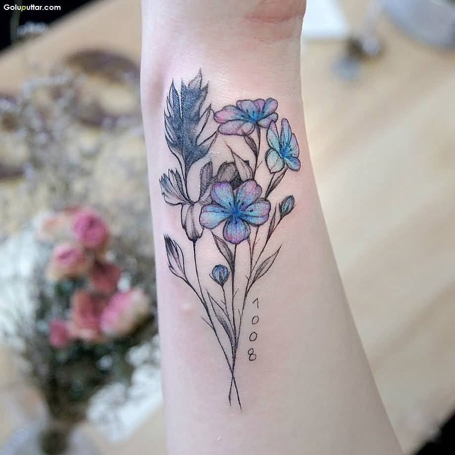 Women show extremely best 3d flower tattoo on arm photos for Flower tattoos on arm