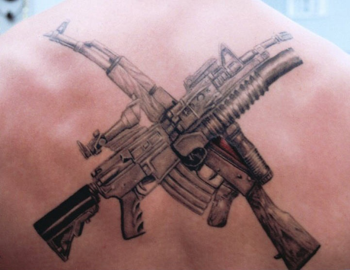 Brilliant Army Infantry Tattoo Made For Back