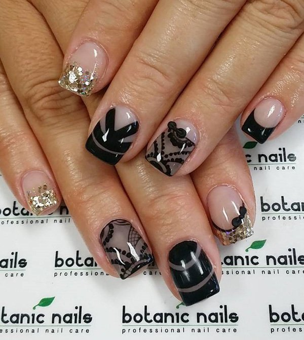 nail art in black color -26
