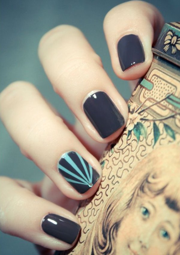 Exclusive Nail Art Design In Grey Photos And Ideas Goluputtar Com