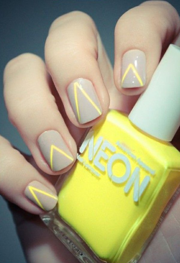 Easy grey and yellow nail art for girls goluputtar simple nail art 033 prinsesfo Gallery
