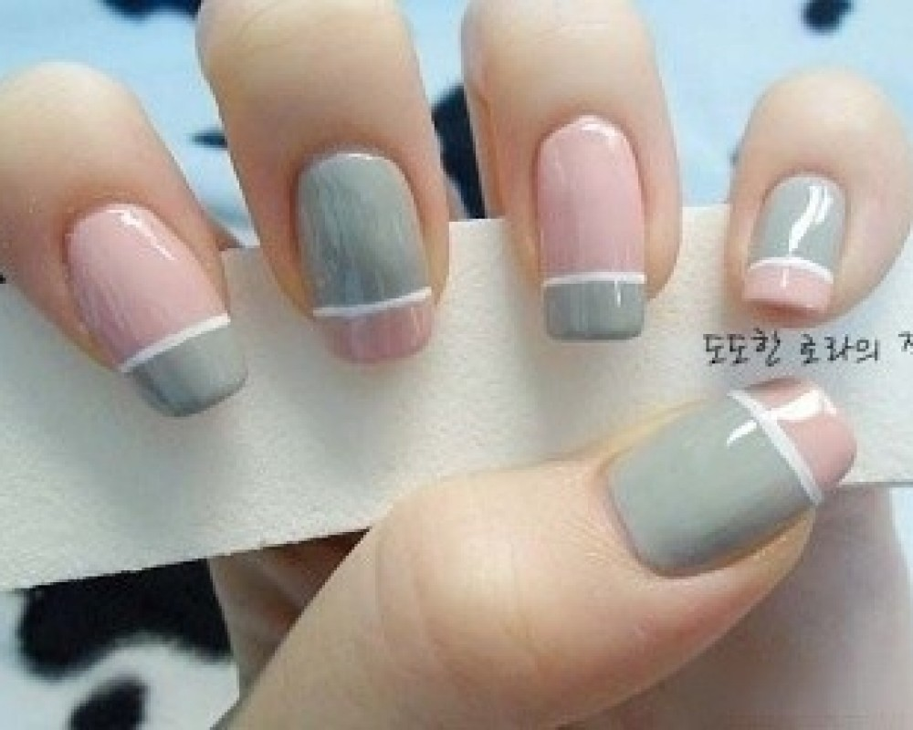 simple nail art - 042 - Funky Light Shades Nail Art And Colors -  Goluputtar. Pink And Grey ... - Pink And Grey Nail Designs Graham Reid