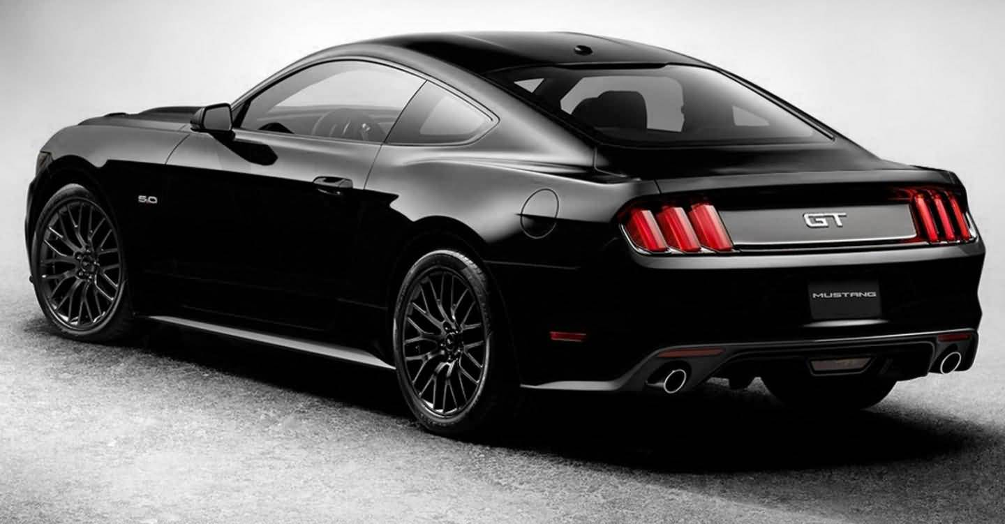 Black Ford Mustang Gt Car For Bad Boys