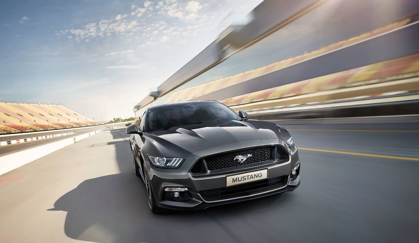 Dark Black Ford Mustang Gt In India