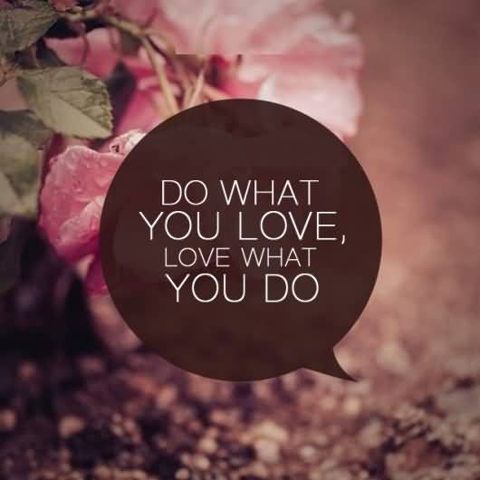 Do what you love love what you do (3)
