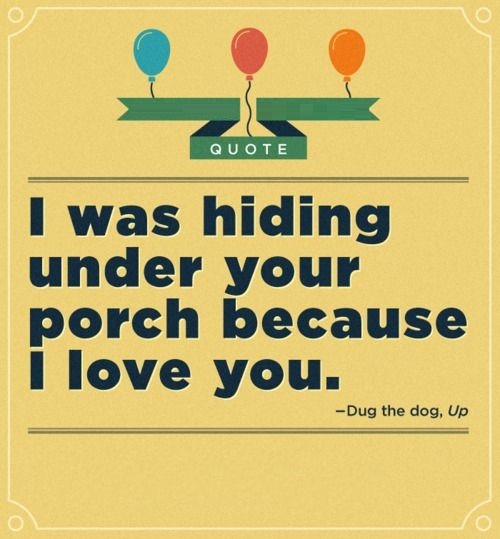 I Love You Thay's Way I'm Beside Your Porch