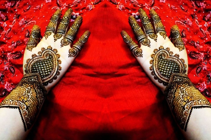 Mehndi Quotes For Him : Bulky mehndi designs for girls photos and ideas goluputtar