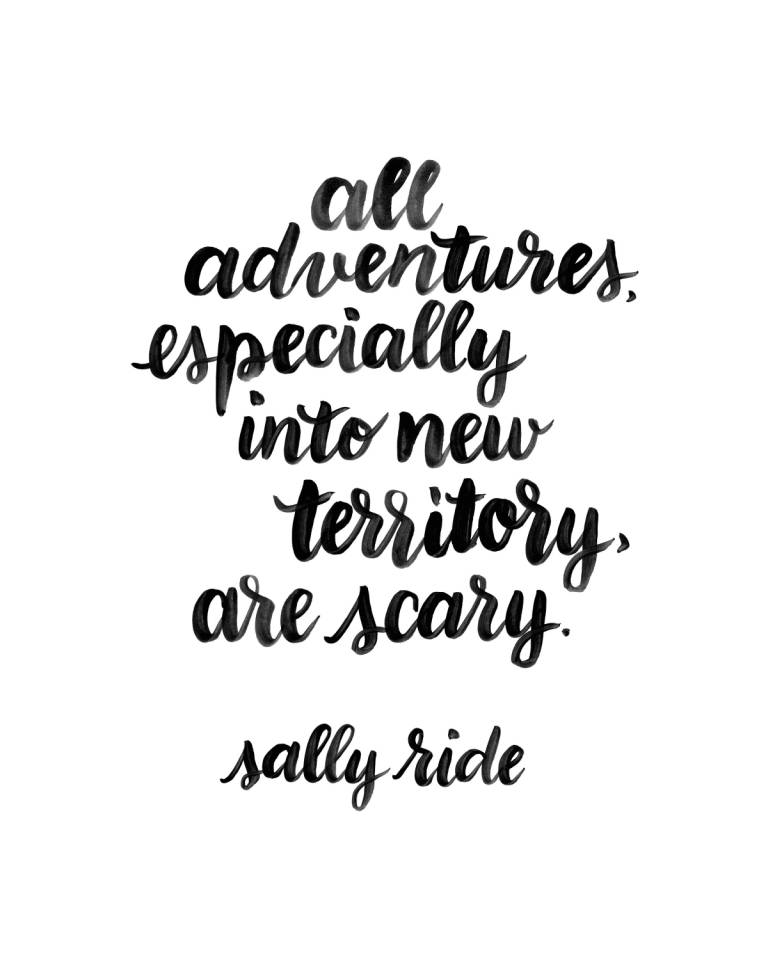 All adventures especially into new territory are scary - Sally Ride