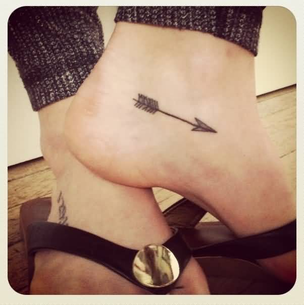 Girl Leg Cover Up With Innovative Small Arrow Tattoo Design