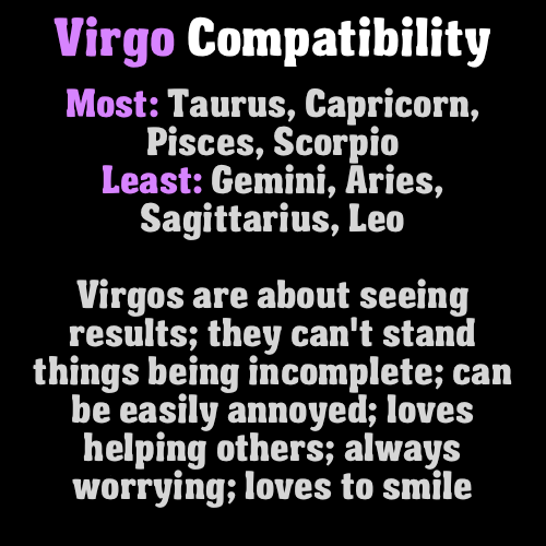 Virgo are about seeing results they can't stand things being incomplete