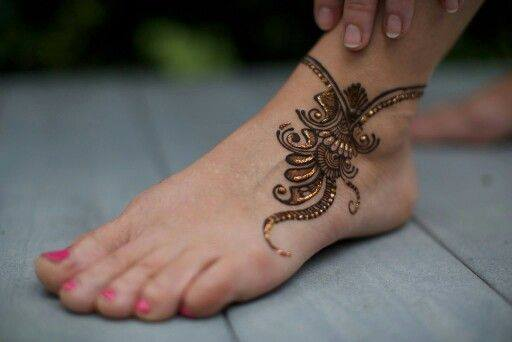 bridal mehndi designs for feet - 02766