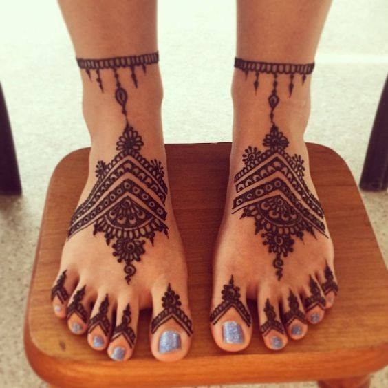 bridal mehndi designs for feet - 0388