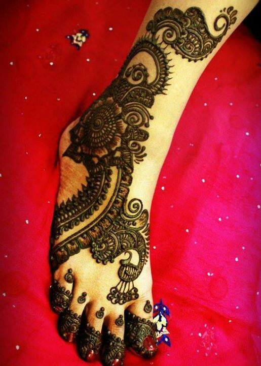 bridal mehndi designs for feet - 11987